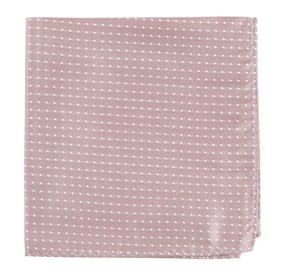 Mauve Stone Mini Dots pocket square