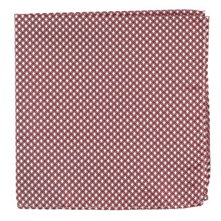 Be Married Checks Burgundy Pocket Square