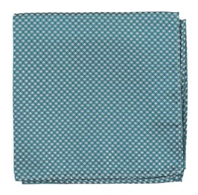 TEAL Be Married Checks pocket square