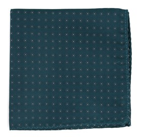 Teal Sparkler Medallions pocket square