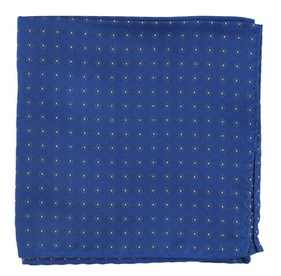 Royal Blue Sparkler Medallions pocket square