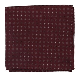 Burgundy Sparkler Medallions pocket square