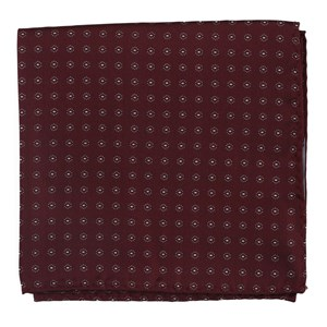 sparkler medallions burgundy pocket square