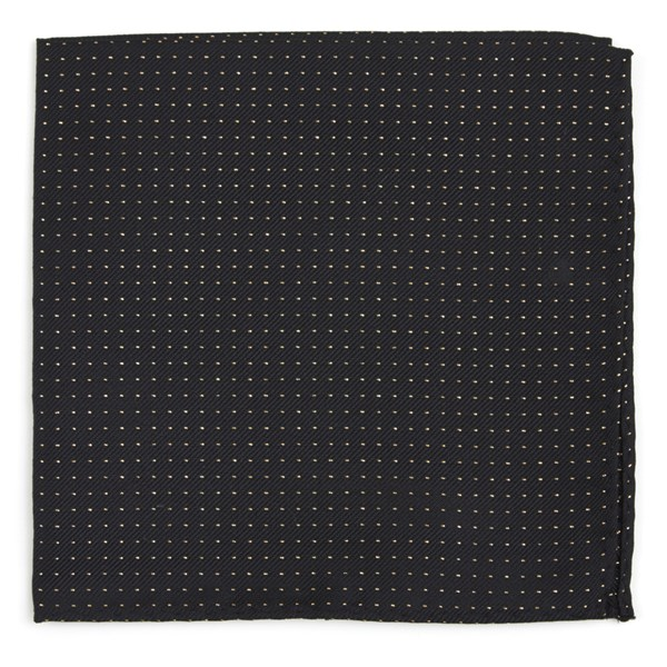 Flicker Classic Black Pocket Square