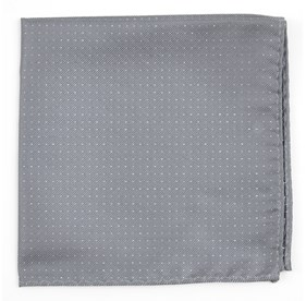 SILVER Flicker pocket square