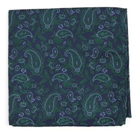 Navy Concord Paisley pocket square