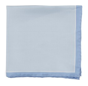 Watertown Point Light Blue pocket square
