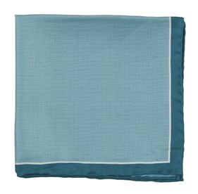 Green Teal Watertown Point pocket square