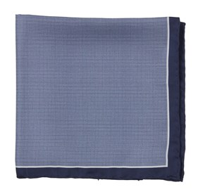 Watertown Point Navy pocket square