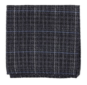 Quinn Plaid Navy pocket square