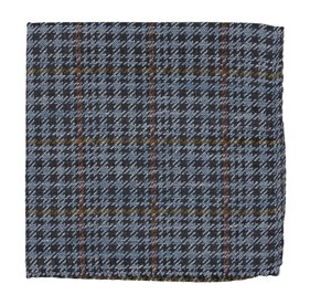 Quinn Plaid Light Blue pocket square