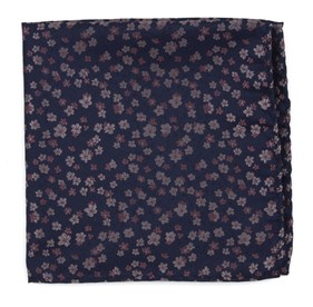 Pink Free Fall Floral pocket square
