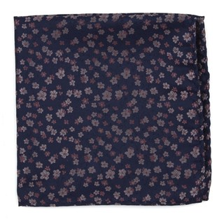 Free Fall Floral Purple Pocket Square