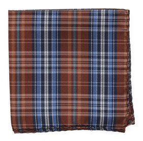 Motley Plaid Orange pocket square