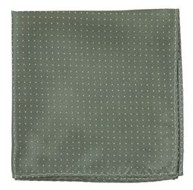 Sage Green Mini Dots pocket square