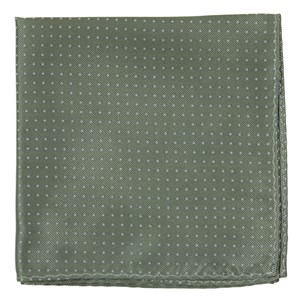 mini dots sage green pocket square