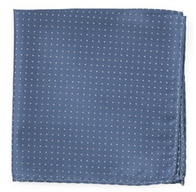 Slate Blue Mini Dots pocket square