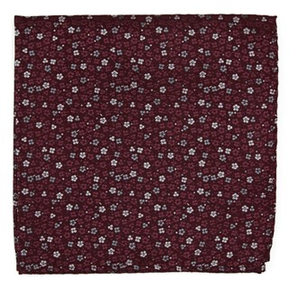 flower fields burgundy pocket square