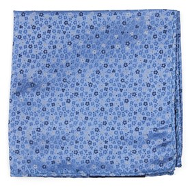 Light Blue Flower Fields pocket square