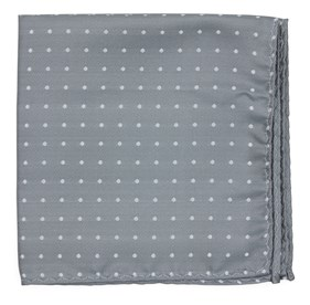 Silver Sage Mumu Weddings - Seaside Dot pocket square
