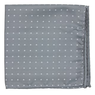 mumu weddings - seaside dot silver sage pocket square