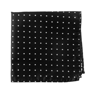 hot dots black pocket square