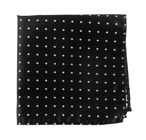 Black Hot Dots Pocket Square