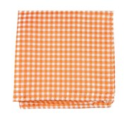 Pocket Squares - CHECKED OUT - ORANGE