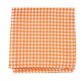Checked Out Orange pocket square