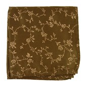 Pocket Squares - ROSE GARDEN - CHOCOLATE
