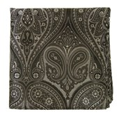 Pocket Squares - EMPIRE PAISLEY - CHARCOAL
