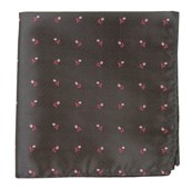 Pocket Squares - TOSSED FLOWERS - CHARCOAL