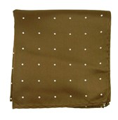 Pocket Squares - Satin Dot - Chocolate