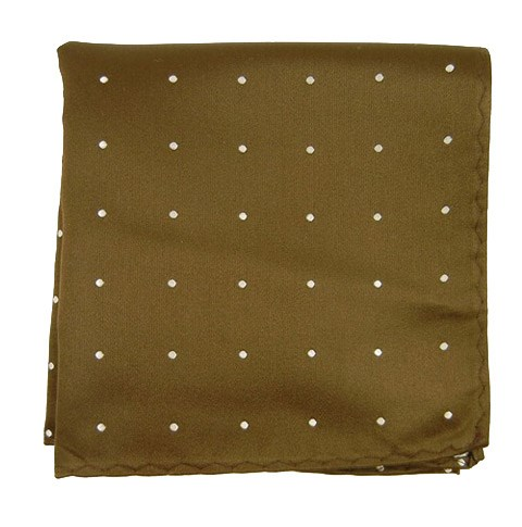 Chocolate Satin Dot Pocket Square