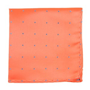 satin dot coral pocket square