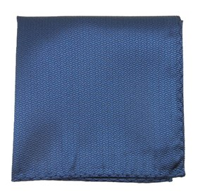 Static Solid Navy pocket square