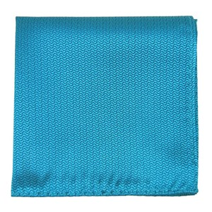 static solid teal pocket square