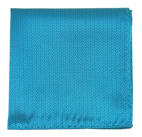 Teal Static Solid Pocket Square