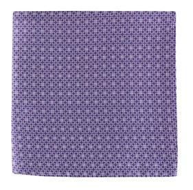 Purple Geoflower pocket square