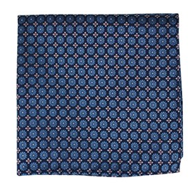 Cornflower Blue Wallflower pocket square