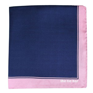solid framed baby pink pocket square