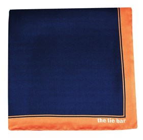 Solid Framed Apricot pocket square