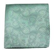 Pocket Squares - Twill Paisley - Spearmint