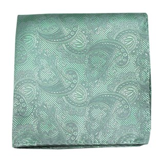 Twill Paisley Spearmint Pocket Square