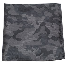 Charcoal Camo pocket square