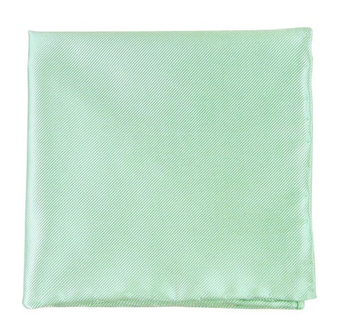 Spearmint Solid Twill Pocket Square