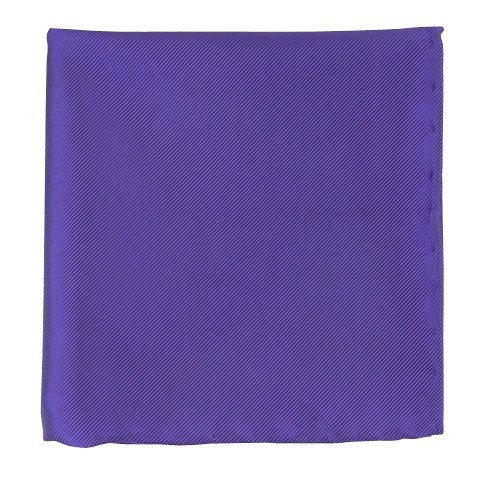 Violet Solid Twill Pocket Square