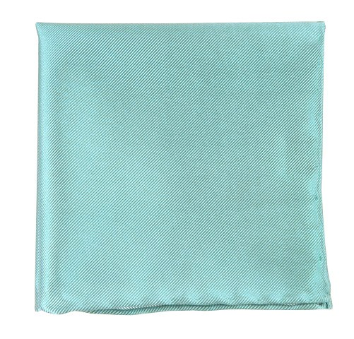 Solid Twill Aqua Pocket Square