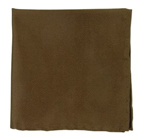 Chocolate Brown Solid Twill pocket square