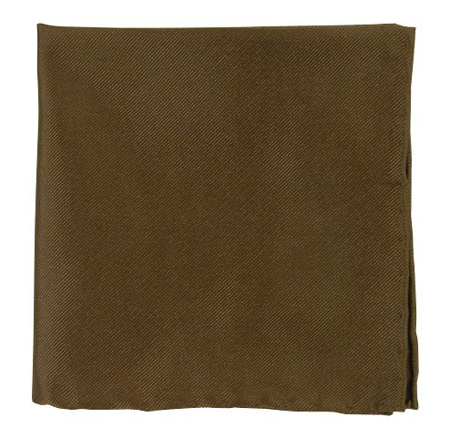 Solid Twill Chocolate Brown Pocket Square